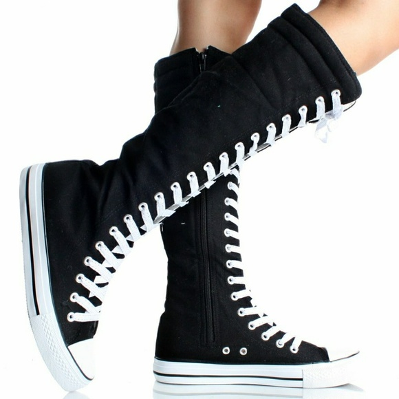 cf78cb4164b4e7 Converse Shoes - Converse All Star lace up knee high shoe size 8